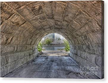Lincoln Park Lagoon Canvas Print - Empty Tunnel by David Bearden