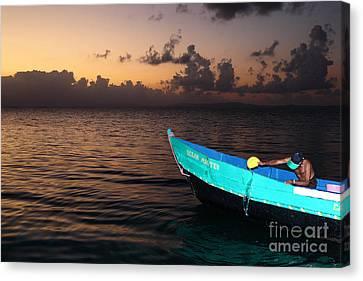 Emptying The Ocean Master Panama Canvas Print