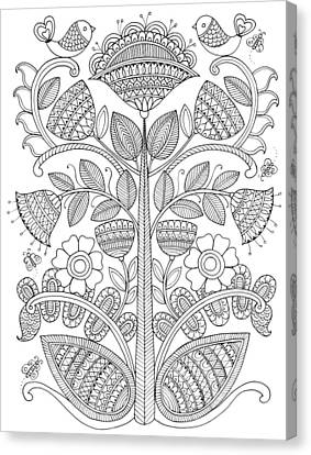 Emroidery Pattern 1 Canvas Print
