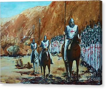 En Route To Battle Canvas Print