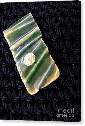 Enameled Gold Pendant Canvas Print by Patricia  Tierney