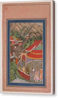 Encampment In The Hills Canvas Print