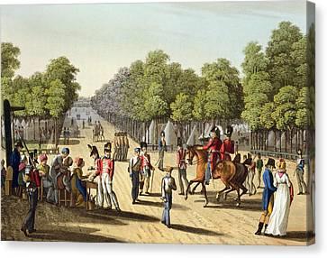 Encampment Of The British Army Canvas Print by Franz Joseph Manskirch