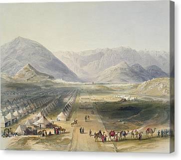 Encampment Of The Kandahar Army Canvas Print by James Rattray