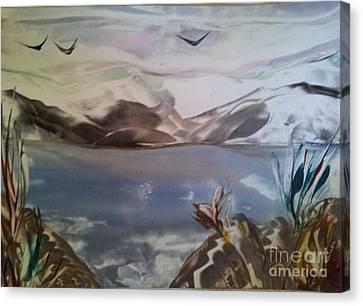 Encaustic Art Canvas Print by Debra Piro