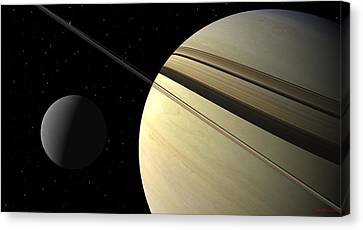 Enceladus Canvas Print by David Robinson