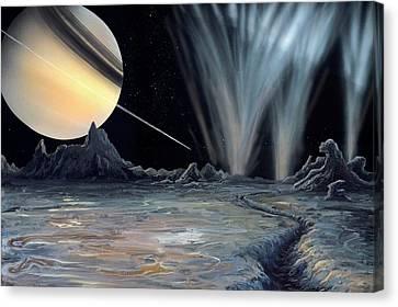 Enceladus Canvas Print by Richard Bizley