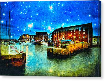 Enchanted Evening On North Berwick Harbor Canvas Print