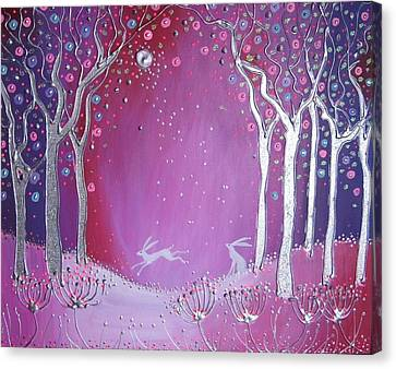 Silver Moonlight Canvas Print - Enchanted Forest by Angie Livingstone