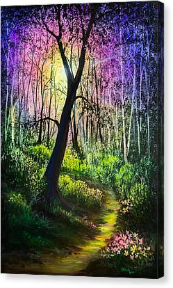 Enchanted Forest Canvas Print by C Steele