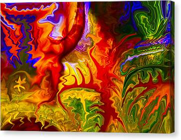 Enchanted Forest Fire Canvas Print by Omaste Witkowski
