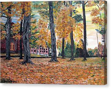 Enchanted Forrest In The Fall Canvas Print