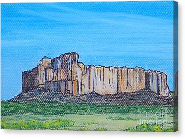 Enchanted Mesa Canvas Print by Lorita Montgomery