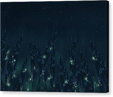 Starry Canvas Print - Enchanted Night by Veronica Minozzi