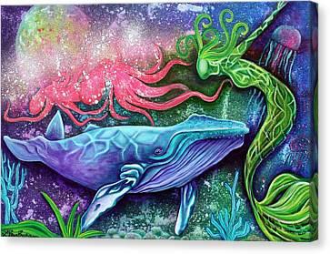 Enchanted Ocean Canvas Print by Laura Barbosa