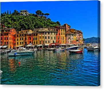 Enchanting Portofino In Ligure Italy II Canvas Print by M Bleichner