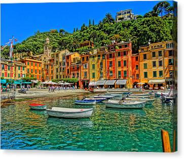 Enchanting Portofino In Ligure Italy IIi Canvas Print by M Bleichner