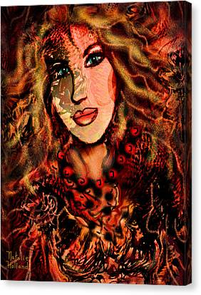 Enchanting Woman Canvas Print by Natalie Holland