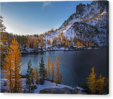 Enchantments Fall Colors Canvas Print by Mike Reid