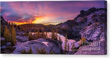 Enchantments Sunrise Illumination Canvas Print by Mike Reid