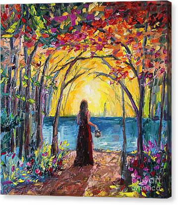 Canvas Print featuring the painting Enchanted by Jennifer Beaudet