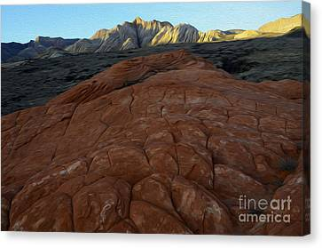 Enchanted Spaces Snow Canyon Utah Canvas Print