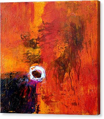 Canvas Print featuring the painting Encounter by Jim Whalen