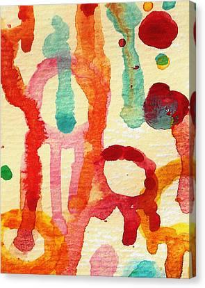 Encounters 5 Canvas Print by Amy Vangsgard