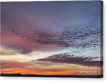 End Of 2012 Sunrise Canvas Print