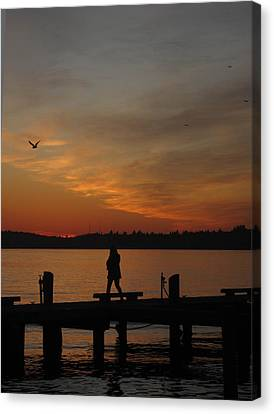 Canvas Print featuring the photograph End Of A Day by Cheryl Perin
