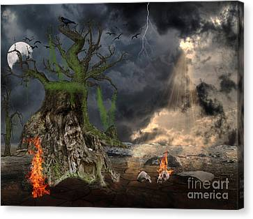 End Of Dark Night Canvas Print by Image World
