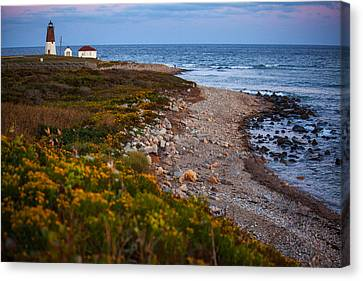 End Of Day At Point Judith Canvas Print