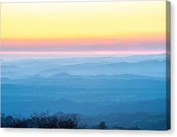 End Of Day Figueroa Mountain Canvas Print