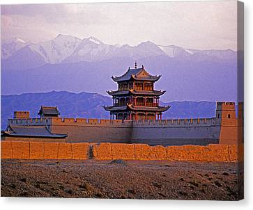 End Of Great Wall Canvas Print