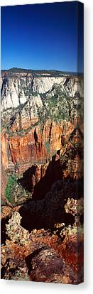 End Of Road To Zion Narrows, Zion Canvas Print