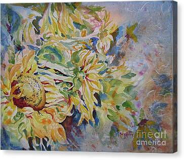 Canvas Print featuring the painting End Of Season by Mary Haley-Rocks