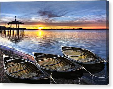 End Of The Day Canvas Print by Debra and Dave Vanderlaan