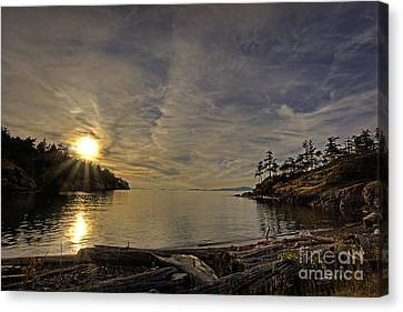 End Of The Day Canvas Print by Inge Riis McDonald