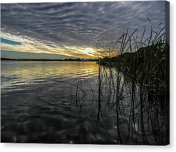 End Of The Day Mirrored Canvas Print by Christy Usilton