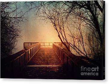 End Of The Dock Canvas Print by Sylvia Cook