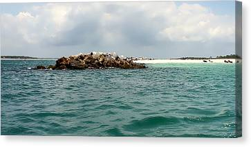 End Of The Jetty Canvas Print by Debra Forand