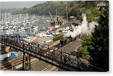 End Of The Line At Kingswear Canvas Print by Peter Hunt