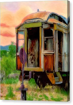 Rusted Cars Canvas Print - End Of The Line by Michael Pickett