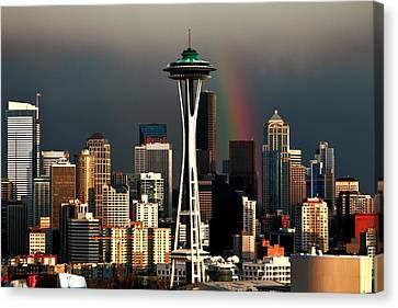 End Of The Rainbow Canvas Print by Benjamin Yeager