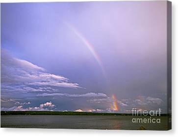 End Of The Rainbow Sebago Lake Maine Canvas Print