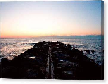 Canvas Print featuring the photograph End Of The Road by Jon Emery