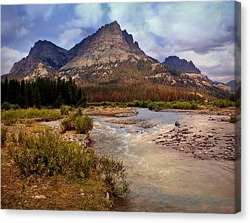 End Of The Road Mountain Canvas Print by Marty Koch