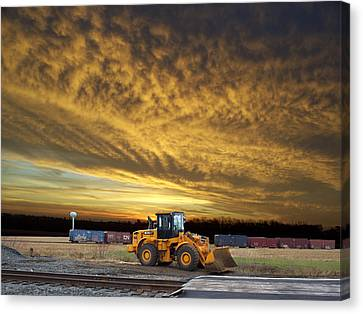 End Of The Work Day Digital Art Canvas Print