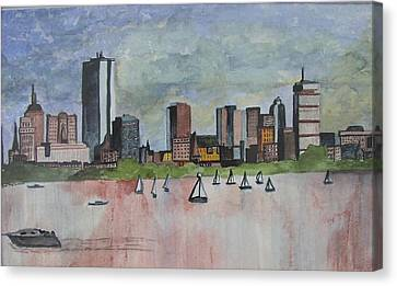 End Of The Workday Canvas Print by Sue Melanson