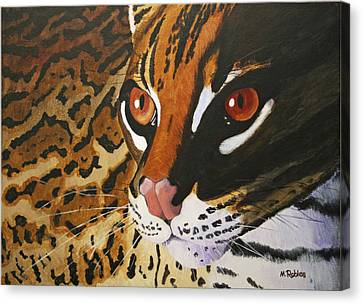 Endangered - Ocelot Canvas Print by Mike Robles